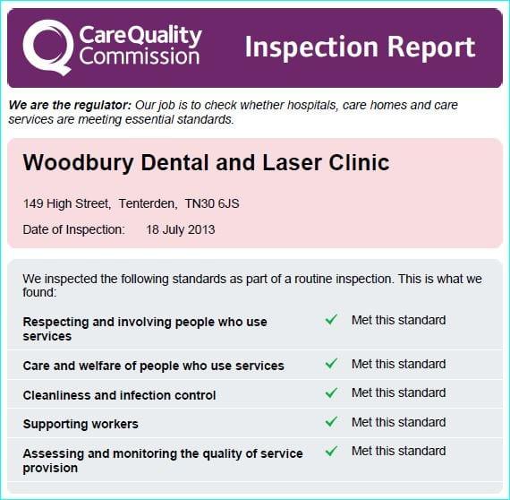 Cqc Inspection Report Woodbury Clinic